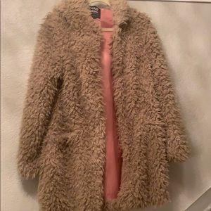 Zara furry jacket with hoodie